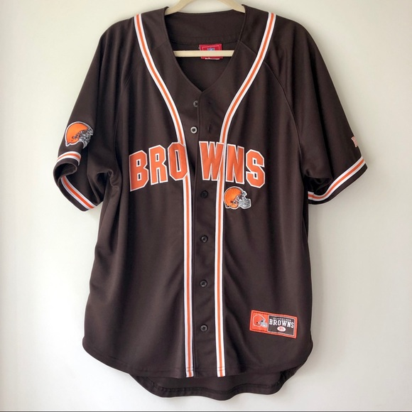 detailed pictures 75430 58981 Cleveland Browns | Retro Baseball Jersey
